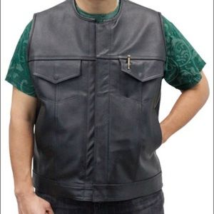 Other - Made in the USA boss men's leather vest